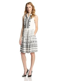 French Connection Women's Solstice Stitch Embroidered Dress