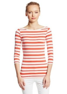 French Connection Women's Space Hopper Stripe 3/4 Sleeve Top