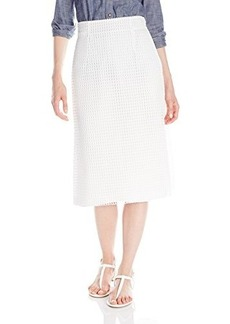 French Connection Women's Space Lace Skirt, Summer White, 0