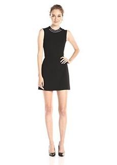 French Connection Women's Sundae Suiting Sleeveless Dress, Black, 10