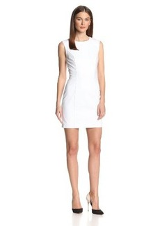 French Connection Women's Super Stretch Solid Sheath Dress, Winter White, 4