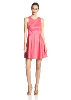 French Connection Women's Superchick Solid Fit and Flare Dress, Party Pink, 10