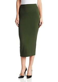 French Connection Women's Valentine Long Viscose Skirt, Pine, 4
