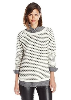 French Connection Women's Vhari Mitzie Sweater, White Hare/Gunmetal, Medium