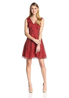 French Connection Women's Wildcat Chiffon Fit-and-Flare Dress