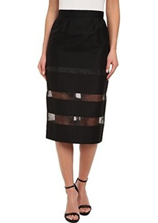 French Connection Women's Wind Jammer Sheer Inset Skirt, Black, 8