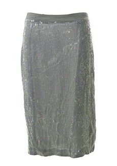 French Connection Women's Winter Mist Skirt, Marble Grey, 4