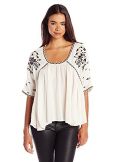 French Connection Women's Woodstock Stitch Top, Classic Cream, Large