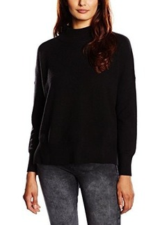 French Connection Women's Ziggy Vhari Mock Neck Sweater, Black, X-Small