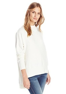 French Connection Women's Ziggy Vhari Mock Neck Sweater, Winter White, Large