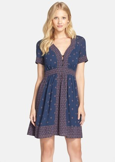 French Connection 'Woodstock' Border Print Georgette Fit & Flare Dress