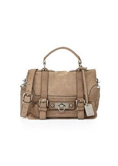 Frye Cameron Small Leather Satchel Bag, Gray