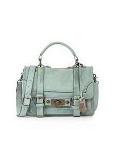 Frye Cameron Small Leather Satchel Bag, Mint