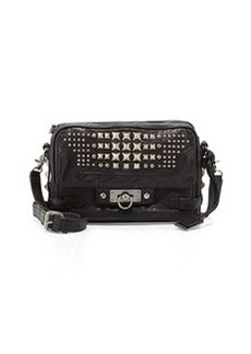 Frye Cameron Studded Leather Crossbody Bag, Black