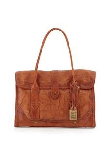 Frye Campus Leather Satchel Bag, Saddle