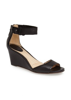 Frye 'Carol' Back Zip Ankle Strap Wedge Sandal