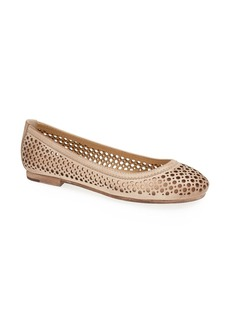 Frye 'Carson' Perforated Leather Ballet Flat