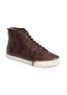 Frye 'Greene' Back Zip Shearling Lined Leather High Top Sneaker (Women)