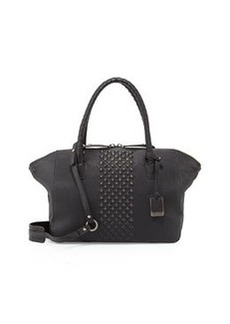 Frye Jesse Peeping Stud Leather Tote Bag, Black