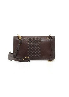 Frye Jesse Stud-Detail Crossbody Bag, Dark Brown