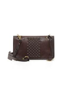 Frye Jesse Stud-Detail Crossbody Bag, Dark Brown