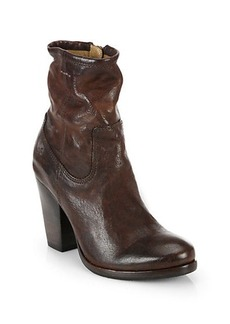 Frye Patty Artisan Leather Zip Ankle Boots