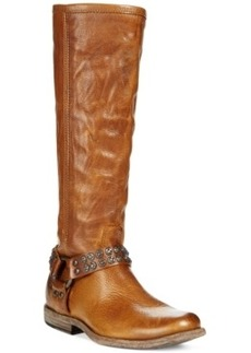 Frye Women's Phillip Studded Harness Tall Boots Women's Shoes