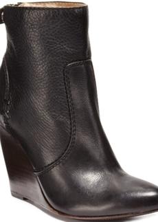 Frye Women's Regina Back Zipper Wedge Boots Women's Shoes