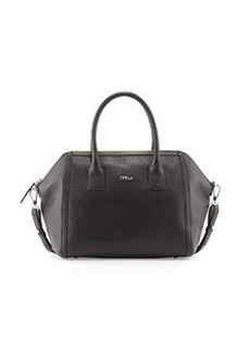 Furla Alice Leather Satchel Bag, Onyx