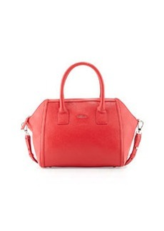Furla Alice Leather Satchel Bag, Red Fiamma