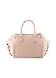 Furla Alice Leather Satchel Bag, Taupe/Amande