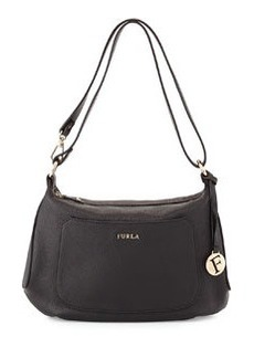 Furla Alida Leather Hobo Bag, Onyx