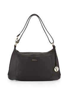 Furla Alida Medium Leather Hobo Bag, Onyx