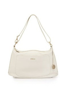 Furla Alida Medium Leather Hobo Bag, Petalo (White)