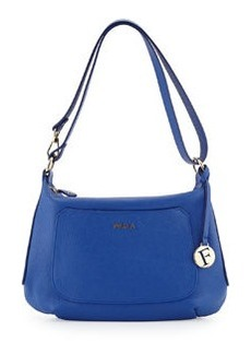 Furla Alida Small Leather Hobo Bag, Ocean