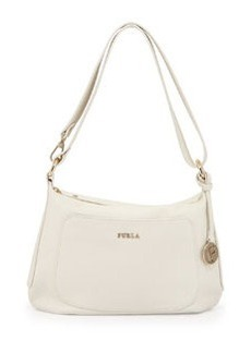 Furla Alida Small Leather Hobo Bag, White