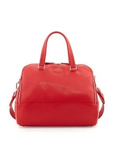 Furla Amalfi Large Satchel Bag, Red Fiamma
