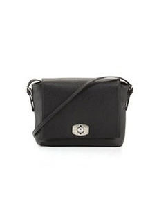 Furla Appa Pebbled Turn-Lock Messenger Bag, Onyx