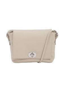 Furla beige leather fold-over crossbody bag