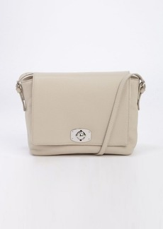 Furla beige leather fold-over crossbody bag