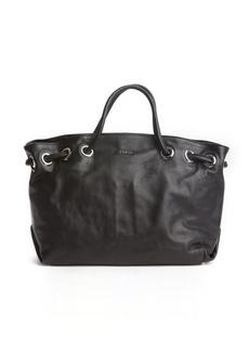 Furla black leather 'Carmen' shopper tote