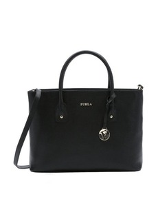 Furla black leather 'Josi' convertible tote