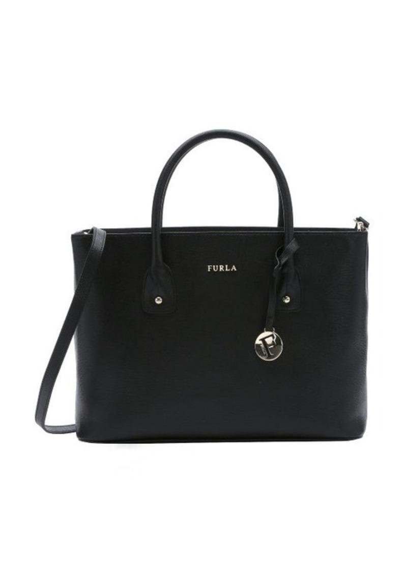 furla furla black leather 39 josi 39 convertible tote handbags shop it to me. Black Bedroom Furniture Sets. Home Design Ideas