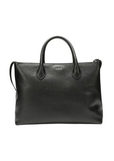Furla black leather 'Martha' convertible large tote