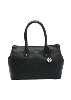 Furla black leather medium 'Serena' tote bag