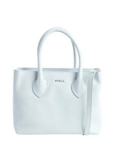 Furla blue leather 'Martha' small satchel