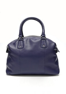 Furla blue pebbled leather 'Raffaella L' satchel