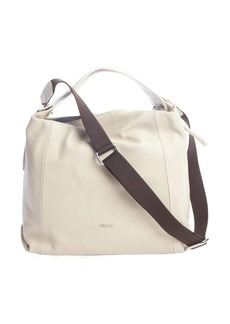 Furla bone leather 'Elisabeth' expandable side zip hogo bag