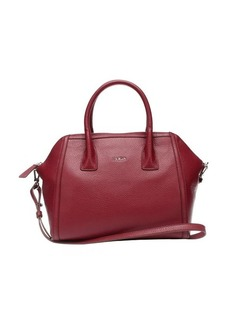 Furla bordeaux leather 'Ellen' small satchel