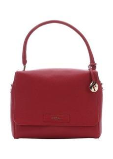 Furla cabernet pebbled leather 'Patty' convertible top handle bag